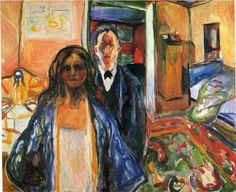 Edvard Munch - The Artist and His Model, 1921.