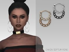 The Sims Resource: Chain Septum Ring by GrafitySims • Sims 4 Downloads