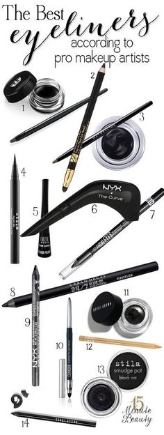 The Best Eyeliners According to #Makeup Artists it's decided I'm getting that nyx curved liner I already oooo'ed over it at cvs the other day.