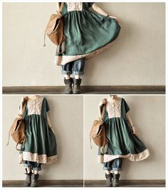 Green national wind easing   lovely Loose Flower   by clothingshow, $83.00