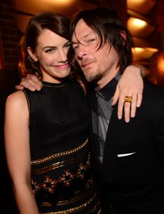 "Norman Reedus Actors Lauren Cohan (L) and Norman Reedus attend Spike TV's ""Guys Choice 2014"" at Sony Pictures Studios on June 7, 2014 in Cul..."