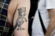 a page of Where The Wild Things Are tattoos