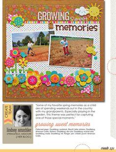Create Magazine- March 2015 issue- Doodlebug Hello Sunshine by Lindsey Amschler