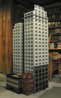 Penobscot Annex LEGO Model Under Construction (update Lego Skyscraper, Building Drawing, Light Well, Lego Modular, Lego Architecture, Annex, Lego Building, Lego Creations, Under Construction