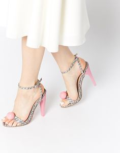 Image 1 of ASOS HIT ON Heeled Sandals