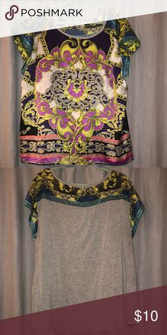 Short sleeve top Multi colored short sleeve top a.n.a Tops Blouses