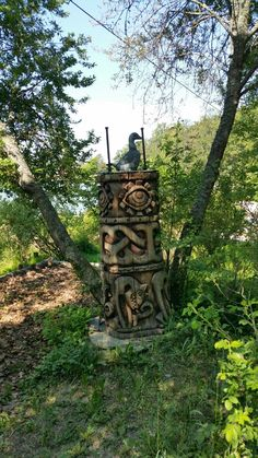 Carvings. Ruissalo. Outdoor Furniture, Outdoor Decor, Finland, Carving, Park, Home Decor, Decoration Home, Room Decor, Wood Carvings