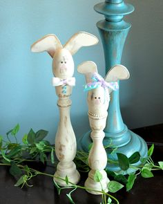 Candlestick Bunnies...too stinkin' cute!