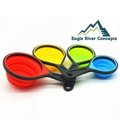 Eagle River Concepts - 8 Piece Collapsible Silicone Measuring Cups with Included Measuring Spoons #kitchen #gadgets @bestbuy9432