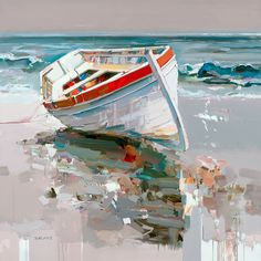 Josef Kote Este pintor de botes es uno de mis preferidos por la fuerza, la luz y los reflejos.