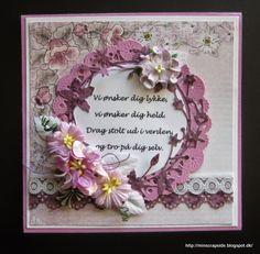 Om kreativiteter i papir og livet tæt på Vintage Looks, Cricut, Paper Crafts, Craft Ideas, Flower, Handmade, Cards, Flowers, Hand Made