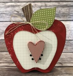 """Apple - September """"Home"""" Interchangeable """"O""""  Wood Decor by ScrapHappyPagesStore on Etsy"""