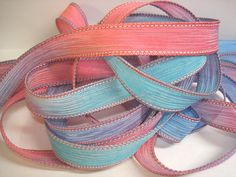 Cotton Candy  42 inch silk ribbon By Color by ColorKissedSingles, $3.00