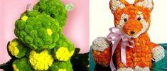 Позитивные букеты из цветов в виде животных