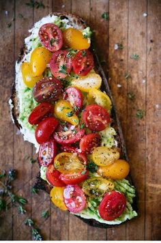 Loaded avocado toast with thyme, tomatoes and ricotta - vegetarian recipes . - Loaded avocado toast with thyme, tomatoes and ricotta – vegetarian recipes …, - Avocado Toast, Avocado Salad, Egg Salad, Avocado Smoothie, Potato Salad, Brunch Recipes, Appetizer Recipes, Dinner Recipes, Brunch Ideas