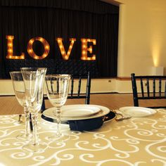LOVE in Block Font - Marquee Collection by Got Light. Marquee Lights. Wedding Marquee Letters. Wedding Lighting.