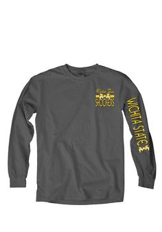 Wichita State Shockers Womens Long Sleeve Tee http://www.rallyhouse.com/wichita-state-shockers-womens-charcoal-charm-school-ls-tee-570983?utm_source=pinterest&utm_medium=social&utm_campaign=Pinterest-WSUShockers $32.99
