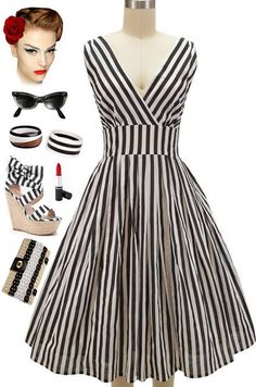 "RESTOCK Alert: Plus sizes in our ""Pinup Style Surplice Sun Dress"" in Black and White Stripe - now back in stock.. we also have ""regular"" sizes.. Get this print and many other colors/prints in this style here at Le Bomb Shop: http://lebombshop.net/search?type=product&q=%22pinup+style+surplice+sun+dress%22&search-button.x=0&search-button.y=0"