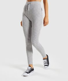 79ff6a72600e1 Gymshark Slounge Leggings - Light Grey Marl size s-m in Light Grey Marl  Viscose