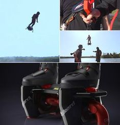 (Check it out) Flyboard Air is a Real-Life Hoverboard That Can Fly at Speeds Up to High Tech Gadgets, New Gadgets, Gadgets And Gizmos, Cool Gadgets, Future Gadgets, Old Technology, Technology Gadgets, Drones, Tech Toys