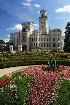 Hluboká Castle in South Bohemia, Czech Republic