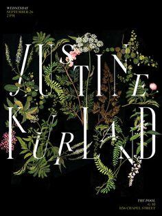 Botanical design. Justine Kurland, poster by Jessica Svendsen
