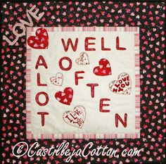 Love Often Quilted Wall Hanging  On Sale by castillejacotton, $19.00