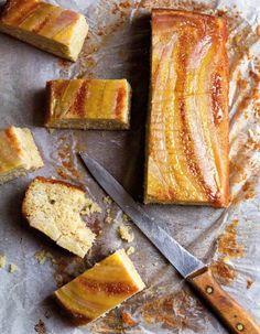 Obrácený banánový koláč - mňááám