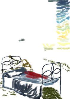 """Bosquejo de """"A la vera del camino"""" (On a Roadside) del libro: El Santuario que Arde"""" de Hernán Ergueta"""