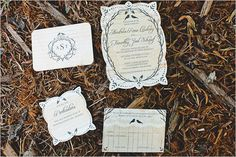 Love the shapes & design of these wedding invitations