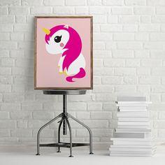 Poster Eenhoorn roze A3. Poster eenhoorn mintgroen in A3 formaat. Heel leuk om in de babykamer en kinderkamer mee te decoreren. Ook leuk om kado te doen! Met deze leuke poster creëer je een nieuwe look met weinig tijd en geld. Ook verkrijgbaar als ansichtkaart.