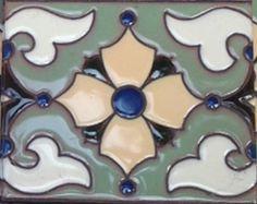 "Decorative Tiles For Sale Felder Flower 3X6"" Decorative Tile  Catalina™ Artistic Tile"