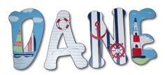 Ships Ahoy! Hand Painted Wall Letters