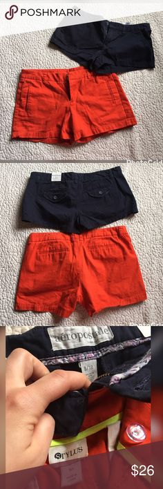 MAKE OFFER! 😎 Shorts bundle! 2 pairs of shorts! One pair NWT blue Aeropostale size 9/10. One pair orange Stylus size 10. Worn only a few times. GREAT CONDITION! Who's ready for summer?!?!! ☀️ Aeropostale Shorts