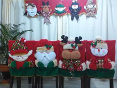 Muñecos na videños Christmas Chair, Christmas Sewing, Christmas Signs, Christmas Holidays, Merry Christmas, Christmas Decorations, Xmas, Christmas Ornaments, Hobbies And Crafts