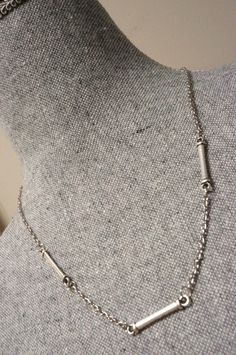 Simple Silver Link Necklace Made in Canada by LinksLocks on Etsy, $15.00