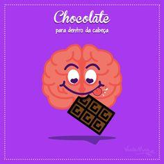 """Publicação para Facebook para a página da Verde Mais, desenvolvido junto a NNcorp. """"SIM, é verdade! O chocolate é um combustível para o bom funcionamento do cérebro, segundo o estudo publicado na revista Neurology. Esse docinho pode melhorar a memória e as suas funções motoras. Mas lembre-se, tudo em grande quantidade prejudica a saúde #temquedosar #chocolovers #chocolate #verdadeoumito #verdemais #comerbemfazbem"""""""