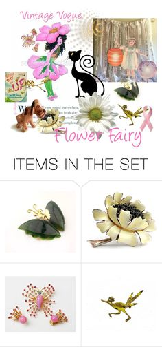 """""""Flower Fairy"""" by plumsandhoneyvintage ❤ liked on Polyvore featuring art and vintage"""