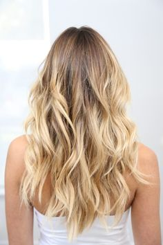 25 blonde highlights for women to look sensational, Sun Kissed Blonde Hi … - All For Hair Cutes Ombre Hair Color, Hair Color Balayage, Hair Highlights, Blonde Balayage Honey, Golden Highlights, Sun Kissed Highlights, Buttery Blonde, Sun Kissed Hair, Golden Blonde Hair