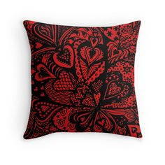 Zentangle Hearts in a Square by Heather Holland now available in a range of products and colours on Redbubble at http://www.redbubble.com/people/heatherian/works/13601983-zentangle-hearts-in-a-square-by-heather-holland