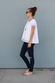 DIY Fashion // White Swing Tee // Cotton// By: Merrick White