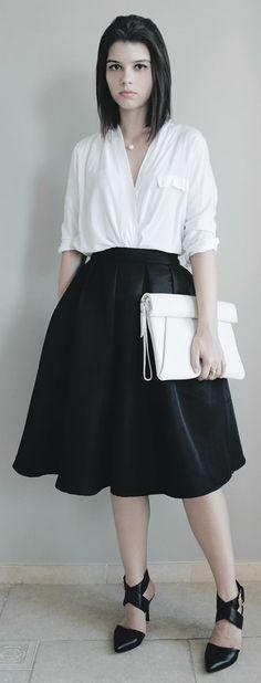 Midi Skirt Outfit Idea