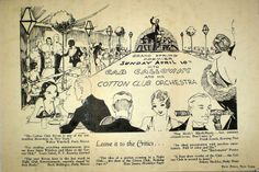 1932 Program Cotton Club