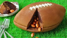 3-D Football Cake filled with Chocolate Footballs | Hungry Happenings