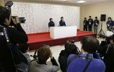 Yuzuru Hanyu of Japan answers a question during a news conference at the Japan House at the 2014 Winter Olympics, Saturday, Feb. 15, 2014, in Sochi, Russia. Hanyu won the gold medal in the men's free skate figure skating final. (AP Photo/Morry Gash) ▼15Feb2014 AP|Hanyu's historic gold for Japan no flash in pan http://wintergames.ap.org/article/hanyus-historic-gold-japan-no-flash-pan