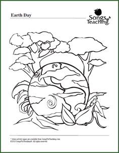 Earth Day Coloring page Ecology coloring pages