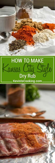 This Kansas City Style Dry Rub is true to the traditional versions with a two to one ratio of brown sugar to paprika as a base then the typical pantry spices like garlic, onion and chili powder as well as cayenne to balance it all out with salt and pepper. #dryrub #spiceblend #ribs #KansasCityStyle via @keviniscooking