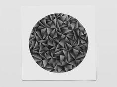 """Circle 5, pencil drawing. A series of drawings called """"Circle""""."""