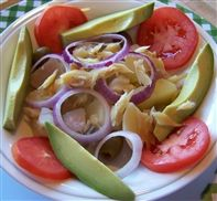 Viandas con Bacalao- Tropical root vegetables mixed with bacalao (salted codfish).