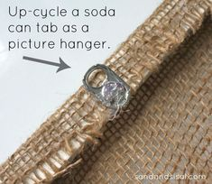 Upcycling- How to use soda tabs has hangers